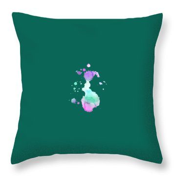 Hues T-shirt Throw Pillow by Herb Strobino