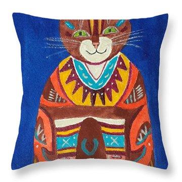 Huey Cat Throw Pillow