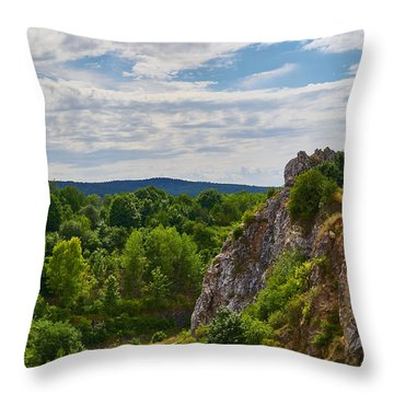 Hug A Rock Throw Pillow