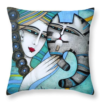hug Throw Pillow by Albena Vatcheva