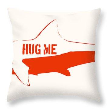 Hug Me Shark Throw Pillow by Pixel Chimp