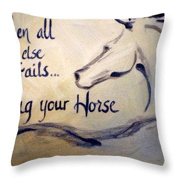 Hug Your Horse Throw Pillow