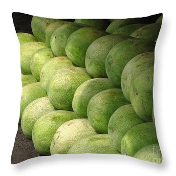 Huge Watermelons Throw Pillow by Yali Shi