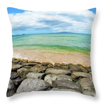 Throw Pillow featuring the photograph Huge Wikiki Beach by Micah May