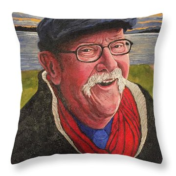 Throw Pillow featuring the painting Hugh Hanson Davidson by Tom Roderick