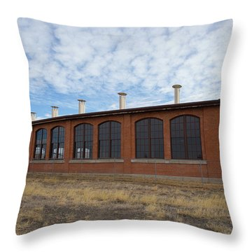 Hugo Union Pacific Railroad Roundhouse Throw Pillow