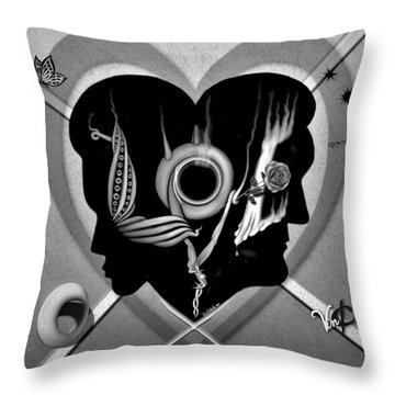 Hugs And Kisses Throw Pillow