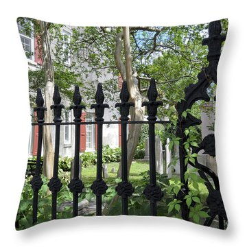 Throw Pillow featuring the photograph Huguenot Church Cemetery by Gina Savage