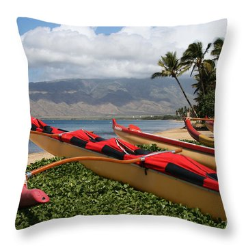 Hui Waa O Kihei Throw Pillow
