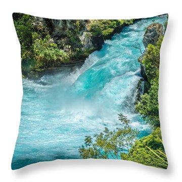 Huka Falls Throw Pillow