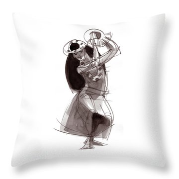 Hula Dancer Alika Throw Pillow