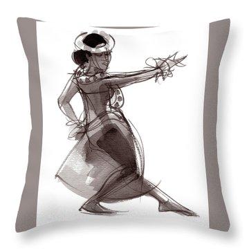 Hula Dancer Keala Throw Pillow