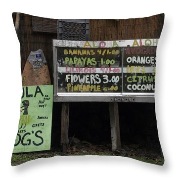 Hula Dogs Throw Pillow