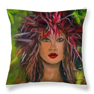 Hula Haku Lei Jenny Lee Discount Throw Pillow