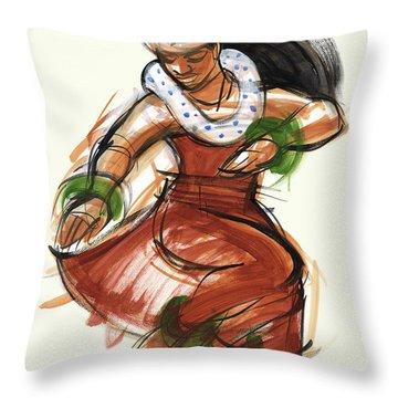 Hula Kona Throw Pillow