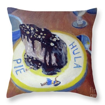 Hula Pie Ice Cream Dessert Throw Pillow