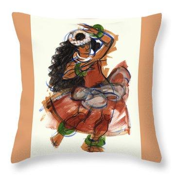 Hula Puna Throw Pillow