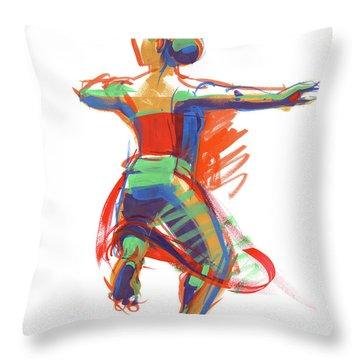 Hula Wahine Ikaika Throw Pillow