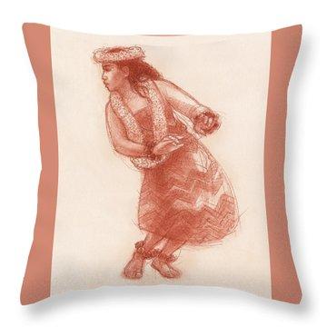 Hula Waikoloa Throw Pillow