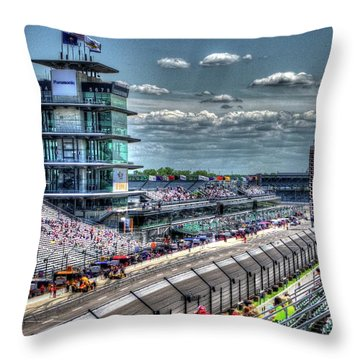 Hulman Suites Throw Pillow