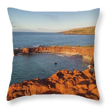 Hulopoe Beach Sunrise Throw Pillow