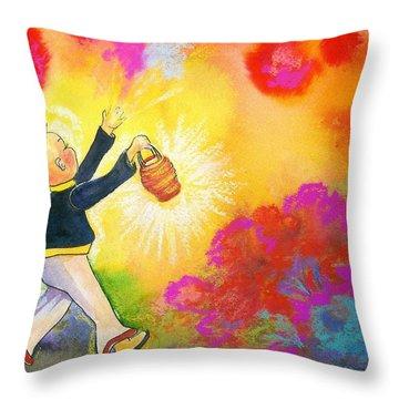 Hum Spreading Chi Throw Pillow