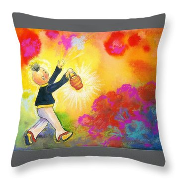 Hum Spreading Chi Throw Pillow
