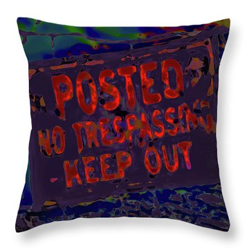 Human Barriers To The Subsconscious Throw Pillow by Gina O'Brien