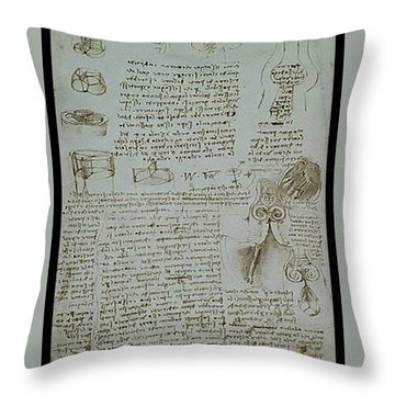 Human Study Notes Throw Pillow by James Christopher Hill