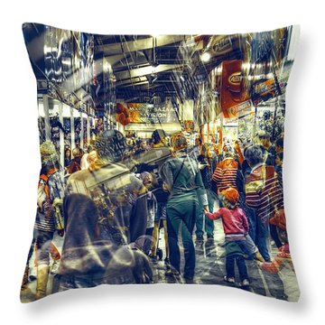 Human Traffic Throw Pillow