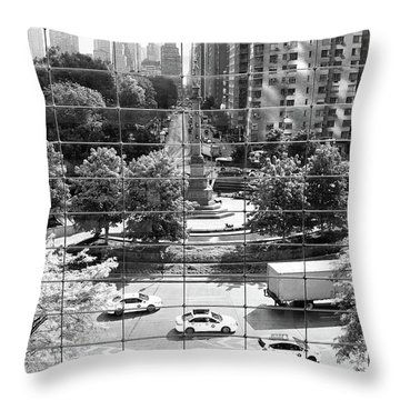 Throw Pillow featuring the photograph Human Zoo by Mitch Cat