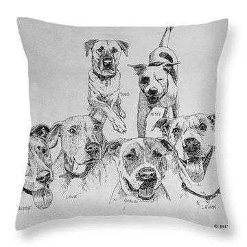 Humane Society Gang Throw Pillow