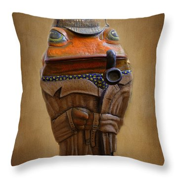 Throw Pillow featuring the photograph Humanimals by Tom Singleton