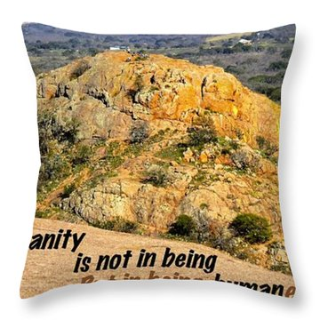 Humanity Reworked Throw Pillow by David Norman