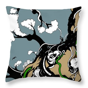 Humanity Rising Throw Pillow