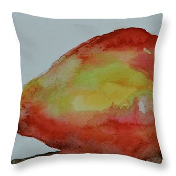 Throw Pillow featuring the painting Humble Pear by Beverley Harper Tinsley