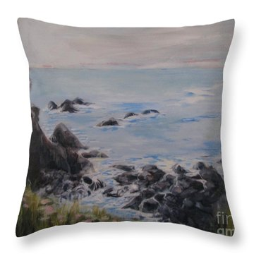 Humboldt Tide Pools Throw Pillow