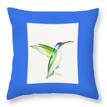 Hummer Throw Pillow by Patricia Piffath