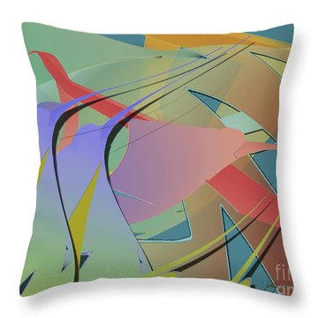 Hummingbird Convention Throw Pillow