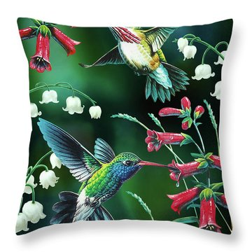 Humming Birds 2 Throw Pillow