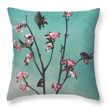 Hummingbears Throw Pillow