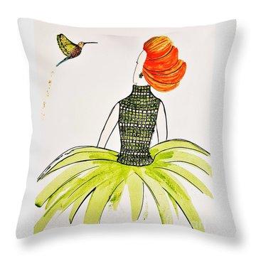 Hummingbird Admirer Throw Pillow
