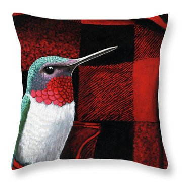 Hummingbird Memories Throw Pillow