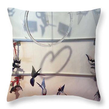 Hummingbird Shadows Throw Pillow