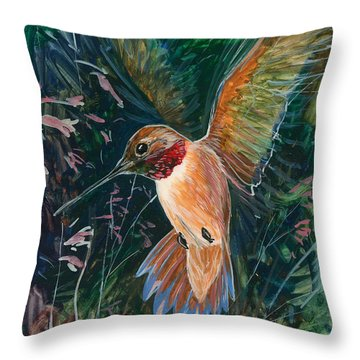 Hummingbird Throw Pillow by Shari Erickson