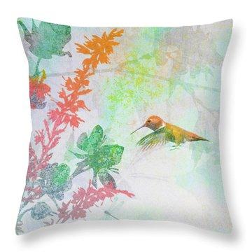 Hummingbird Summer Throw Pillow
