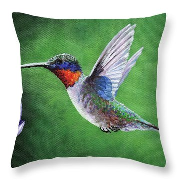 Hummingbird Throw Pillow