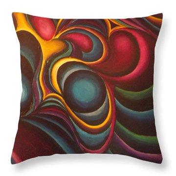 Hummingbirds Throw Pillow by Bernie Bishop