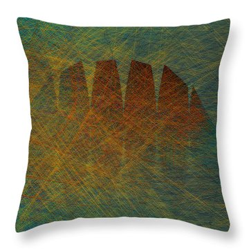 Hump Back Throw Pillow by Constance Krejci