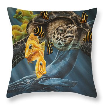 Humpback Throw Pillow